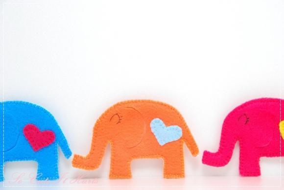 Orange LOVE cozy elephant coaster